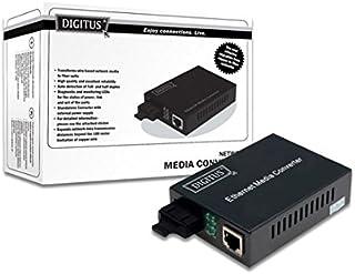 DIGITUS Medienkonverter   Multimode   Gbit Ethernet   RJ45 / SC   850nm Wellenlänge   Bis 0.5km   Schwarz