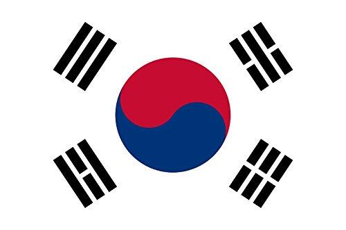 Planete Supporter Drapeau Corée du Sud - 150 x 90 cm (Uniquement chez Le Vendeur 100% Conforme à l'image)