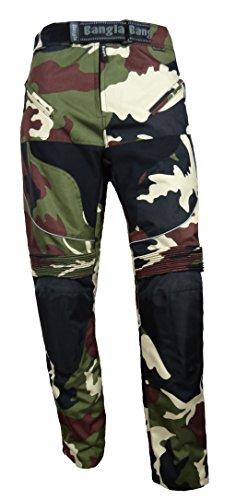 Ledershop-online Bangla Motorradhose Tourenhose Textil Cordura Camouflage Grün 5XL