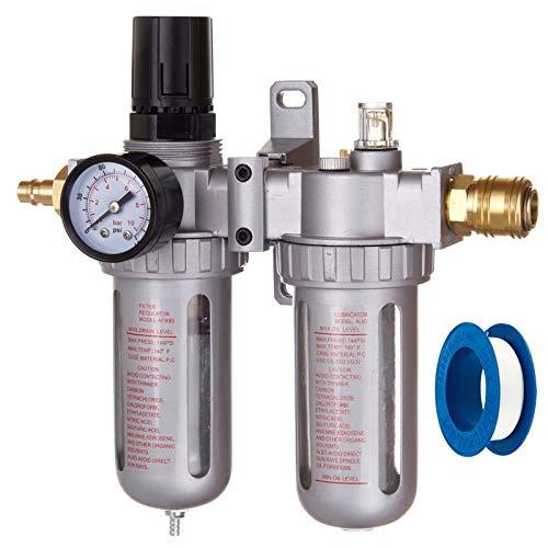 Druckluft Wartungseinheit Druckminderer Öler für Kompressor Schlagschrauber Schnellkupplung