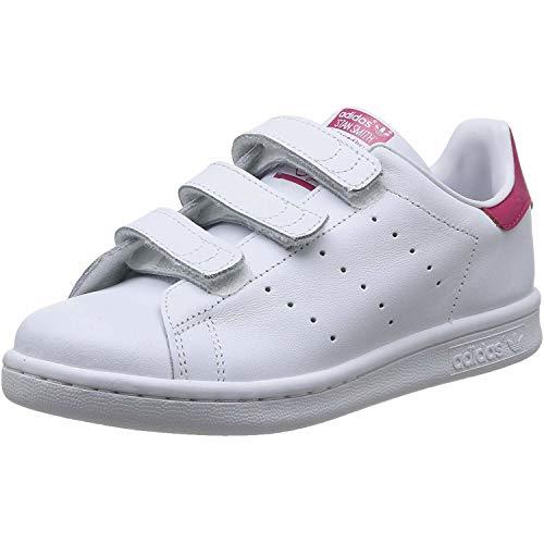 adidas Originals Stan Smith CF C - Scarpe per bambini, unisex, multicolore (Ftwr White/Ftwr White/Bold Pink), taglia 34