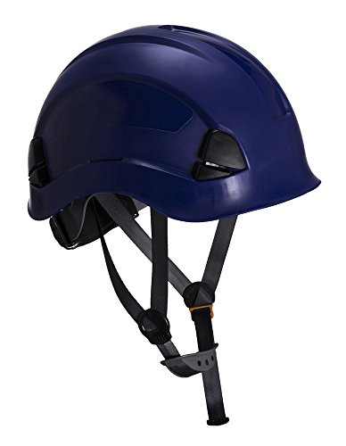 Workwear World ww335 altezza Endurance ponteggi arrampicata STEEPLEJACK lavoro casco con Chin Strap (Royal Blue)