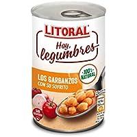 LITORAL Hoy Legumbres Garbanzos con su sofrito, Plato Preparado Sin Gluten - 400 gr
