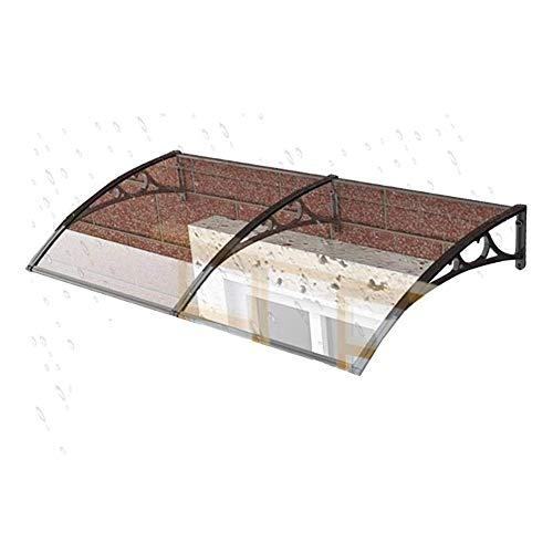 Tejadillo De Protección Marquesina para Puertas Y Ventanas Ventanas Toldo Policarbonato Tejadillo De Protección para Terrazas Canopy (Color : Black Bracket, Size : 60cmx160cm)