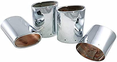 Eckler's Premier Quality Products 25-108470 - Corvette Exhaust Extensions Chrome Plated Stainless Steel With Dual Tips