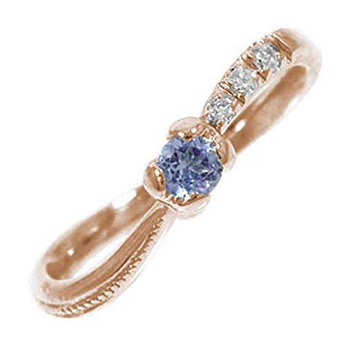 アルマ 流れ星 18金ピンクゴールド タンザナイト 指輪 ピンキー ハートリング 3号 【130625w35】