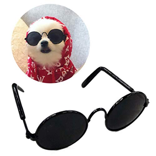 Stock Show Funny Cute Dog Cat Retro Fashion Sunglasses...
