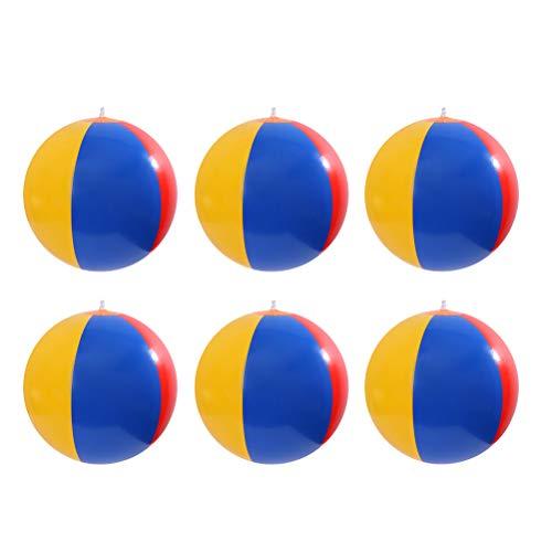 Aufblasbare Wasserbälle Strand-Ball für Schwimmbad Party Kinder Bälle Spielzeug für Sommer im Freien und Schwimmen Party Supplies - 6er Pack