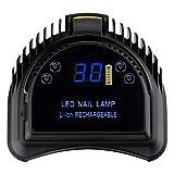 Lámpara UV LED secador de uñas 64 W profesional portátil negro
