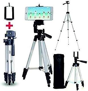 SWAPKART Adjustable Aluminium Metal Alloy Tripod Stand Holder for Mobile Phones & Camera, 360 mm -1050 mm, 1/4 inch Screw ...