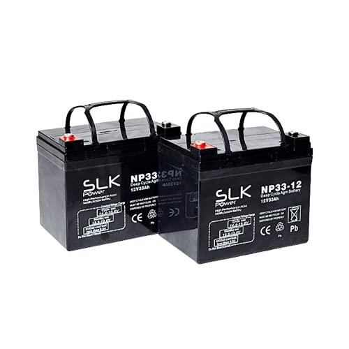 12V 33Ah (Pair) SLK AGM