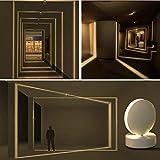 Il faretto bianco ha un effetto decorativo multifunzionale, che può essere utilizzato come plafoniera a led per interni o come applique da esterno per interni. Ideale per corridoi, corridoi, davanzali, foyer; non è solo l'illuminazione, ma anche l'ar...