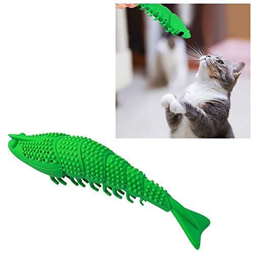 WJH Bite Hierba gatera Pescado dentición Palo Divertido Gato Juguete del Cepillo de Dientes for Mascotas