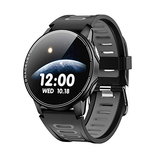 L6 Smart Watch, Fitness Tracker,2021style, Ip67 Waterproof, with Oxygen Saturation, Bluetooth Call, Children's Male and Female Pedometer,Removable Strap(Black)