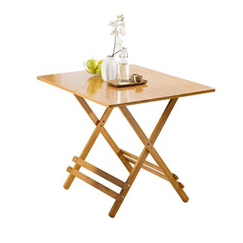 ZhuFengshop Minimalistisch eettafel, klaptafel, vrijetijd, eettafel, draagbaar, van massief hout, rond, vierkant, keukentafel, klaptafel, sofa