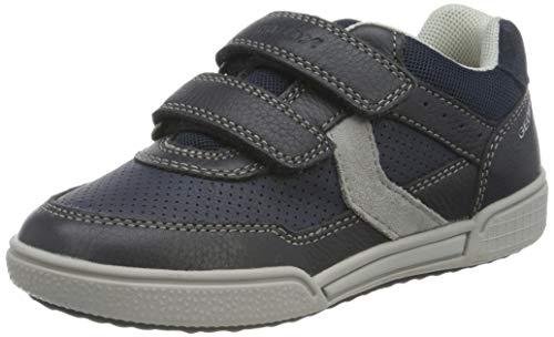 Geox Jungen J Poseido Boy A Sneaker, Blau (Navy/Grey C0661), 34 EU