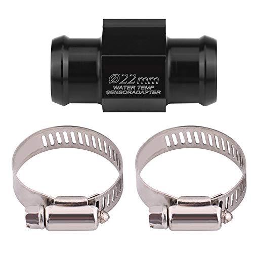 Tubo de junta de temperatura del agua, Adaptador de sensor de temperatura de motocicleta de aluminio, Tubo de junta de medidor de temperatura del medidor de temperatura del agua(22mm)