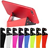8 PCS Universal Pocket-Sized Colorful Portable Foldable V Model Mobile Phone Holder, SourceTon Desktop Stand Mount Holder Cradle Compatible with iPads,Tablets,E-Readers,Cellphones, Kindles, Pack of 8