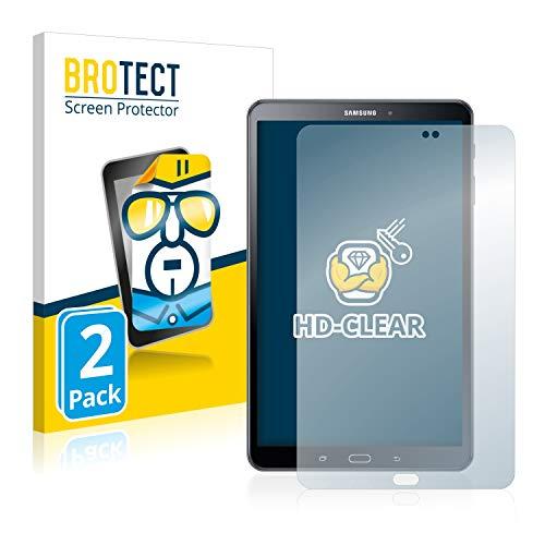 BROTECT Schutzfolie kompatibel mit Samsung Galaxy Tab A 10.1 SM-T585 / T580 (2016) (2 Stück) klare Displayschutz-Folie