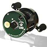 Heavyweight Champions Catfish Baitcaster Reel – Round with Loud Bait Clicker, Steel Bearings, Carbon Disc Drag, Thickened Metal for Big Cat Fish + Power Handle + Neoprene Cover