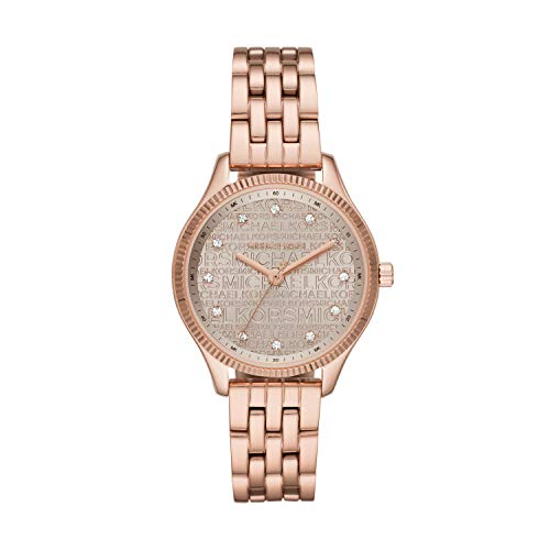 Michael Kors Women's Quartz Watch with Stainless Steel Strap, Rose Gold, 14 (Model: MK6799)