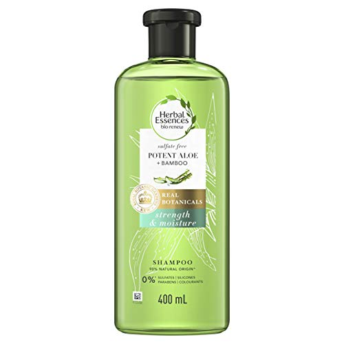Herbal Essences Bio:Renew Sulphate-Free Potent Aloe + Bamboo Strengthening Shampoo For Damaged Hair 400ml