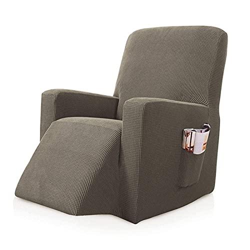 Sofa Slipcovers,Recliner Chair Cover,Stretch Recliner Schonbezug,1 Stück Möbelschutz Anti-Rutsch,Recliner Chair Schonbezüge,mit Remote Pocket 3
