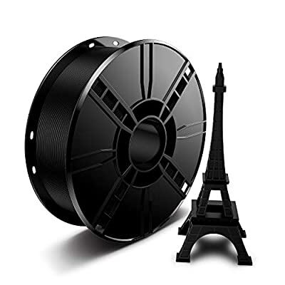 3D Printer PLA Filament 1.75mm 1KG Black, LABISTS 3D Printing PLA Filament Bundle 1kg/2.2lb/Spool (Black, 1 Pack)