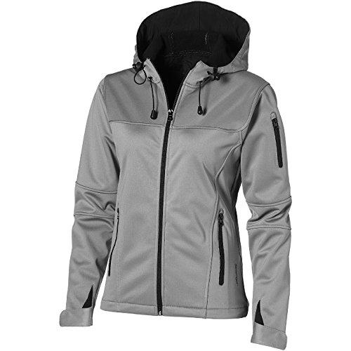 SLAZENGER Damen Match Softshell Jacke XL,grau/tiefschwarz