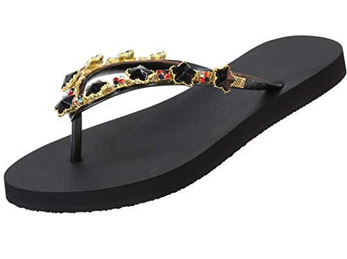 Uzurii-Luxury Footwear, Zehentrenner: Black Star (41/42 EU, Black)