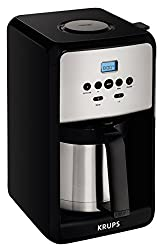 top 10 krups coffee makers KRUPS ET351 coffee machine, programmable coffee machine, thermal carp, 12 cups, black
