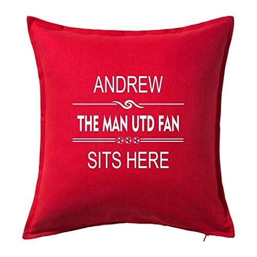 Yohoba Manchester United Football Club Mufc Fan Personalised Cushion Covers Throw Pillow Case Covers 18'x18' Men'S Gift