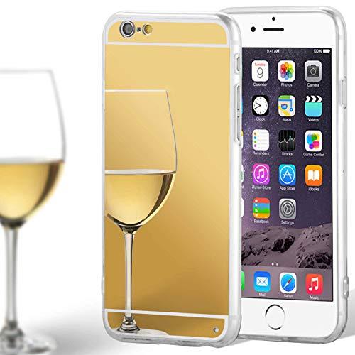 United Case Espejo TPU para Apple iPhone 6 / 6s Espejo   Funda De Silicona Brillante Oro