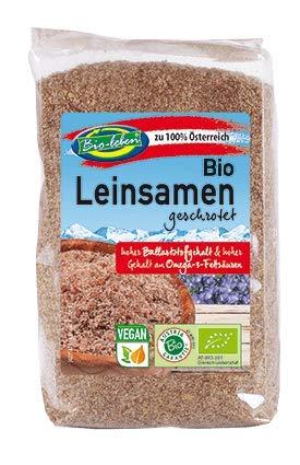 Bio-leben 100% österreichischer biologischer brauner Leinsamen fein gemahlen 1,4kg Öko Bio Leinsaat, hohe Bioverfügbarkeit da fein geschrotet 7x200 g