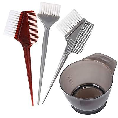 4 PCS Professional Salon Hair Coloring Dyeing Kit 2019 Version Hair Dye Brush and Bowl Set - Dye Brush & Comb/Mixing Bowl/Tint Tool
