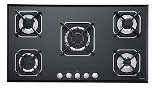 Lofra 29230208 - Cocina de gas para empotrar (5 fuegos, 91 cm)
