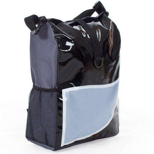 TecTake Fahrradtasche Gepäcktasche grau/blau