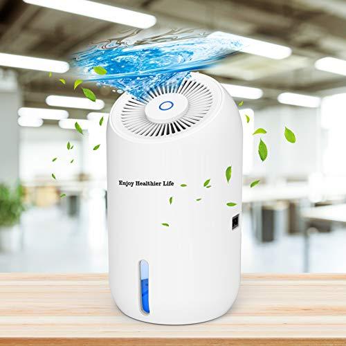 Deumidificatore Ambiente Casa, Mefine 900ml Mini Portatili Deumidificatori Silenziosi, Elettrico Deumidificatore per la muffa da interno, utilizzabile in armadio, lavanderia, 5-15㎡