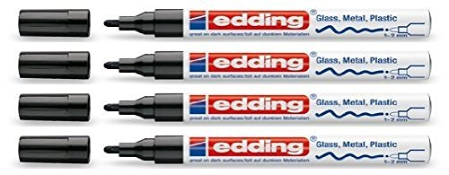 Rotulador de pintura brillante Edding 751 negro