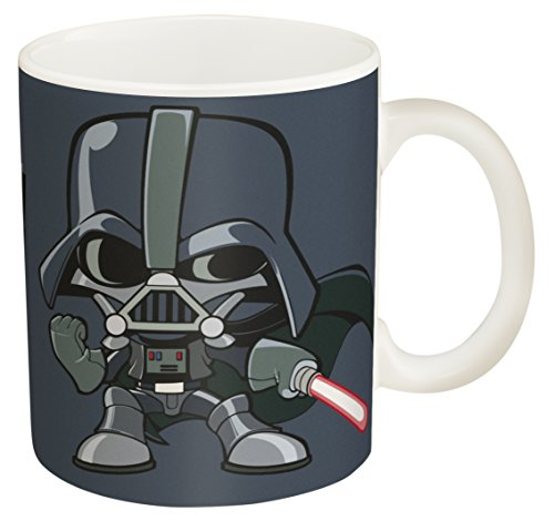 Zak! Designs Ceramic Coffee Mug with Illustrated Darth Vader...