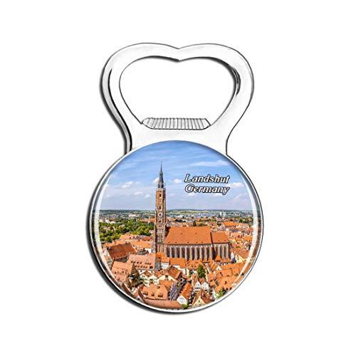 Weekino Landshut Kathedrale Deutschland Bier Flaschenöffner Kühlschrank Magnet Metall Souvenir Reise Gift