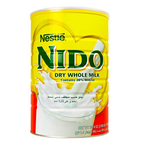 Nestle Nido Milk Powder, Imported from Holland, Specially Formulated, Fortified with Vitamins and Minerals, Easy To Prepare, over 12 months, 4 lb