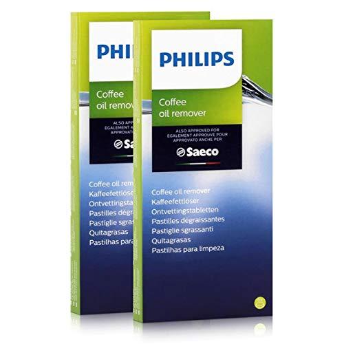 Philips Saeco CA6704/10, pastiglie sgrassanti per caffè, confezione da 2 pezzi con 6 pastiglie da 1,6 g cadauna