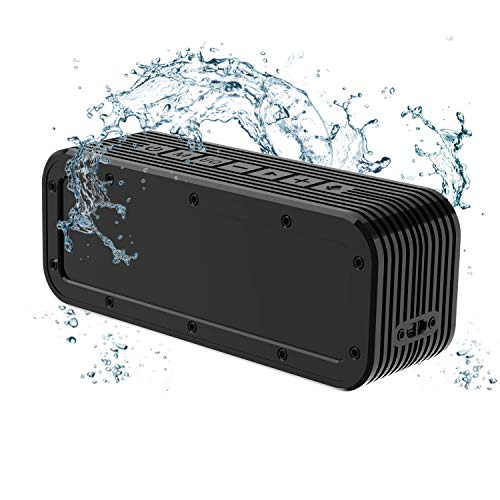 50W Bluetooth Speaker Portable Premium IPX7 Waterproof Bluetooth Speaker 12h Playtime Support TF Card Perfect Outdoor Mini Wireless Speaker for Shower Camping Beach