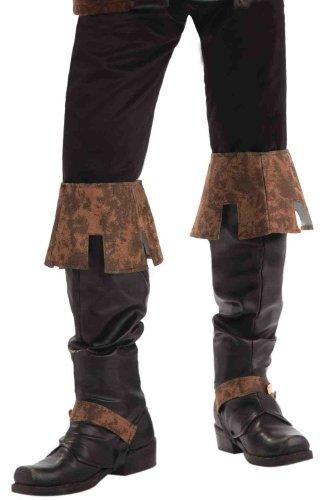 Forum Novelties Men's Renaissance Boot Tops Costume Accessory, Brown, One Size
