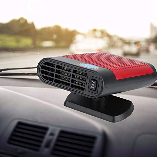 AUNMAS Windshield Car Heater Defogger, Fast Heating Car Heater & Cooler Portable 2-in-1 Defroster, 360 Degree Rotating Air Blower Window Demister Machine for Automobile 12V 150W