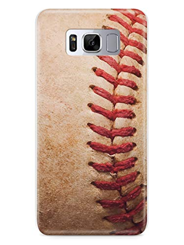 Inspired Cases - 3D Textured Galaxy S8 Case - Rubber Bumper Cover - Protective Phone Case for Samsung Galaxy S8 - Baseball Design