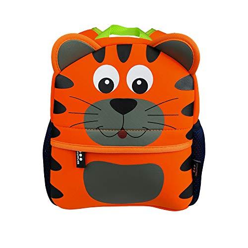 DMM Supplies Mochila Happy Animals Tigre Guardería, Unisex niños, Naranja, Talla del Producto