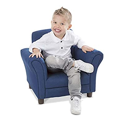 "Melissa & Doug Denim Fabric Child's Armchair (Kid's Furniture, 23""L x 17.5""W x 18.3""H) by Melissa & Doug"