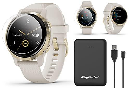 Garmin Venu 2S (Light Gold/Sand, Small) 2021 Fitness GPS Smartwatch...